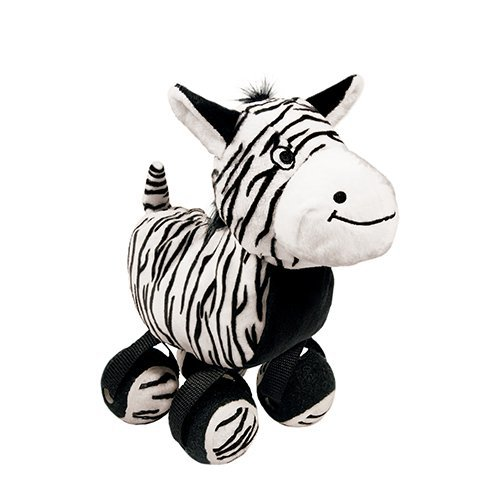 KONG TenniShoes Zebra pluszowa zabawka dla psa rozmiar S i L