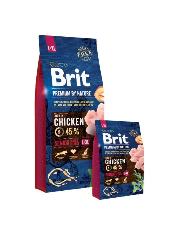 BRIT Premium By Nature Senior L+XL karma dla psa ras dużych i bardzo dużych 3kg i 15kg