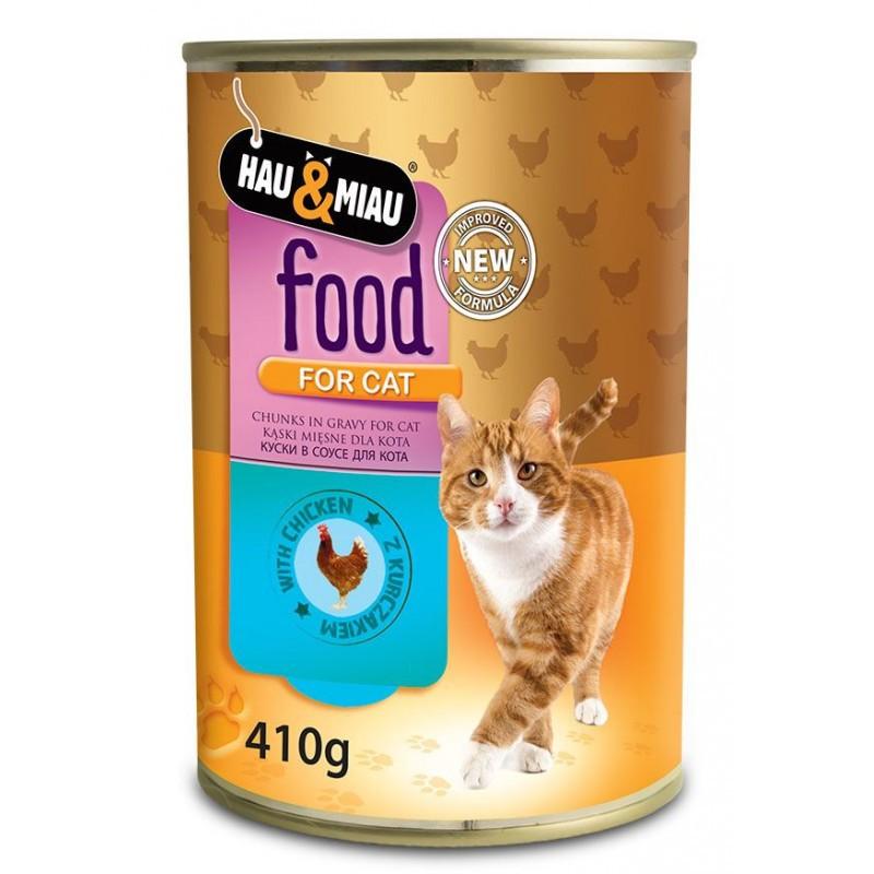 HAU&MIAU Food For Cat Kurczak - Mokra karma dla kota 410g