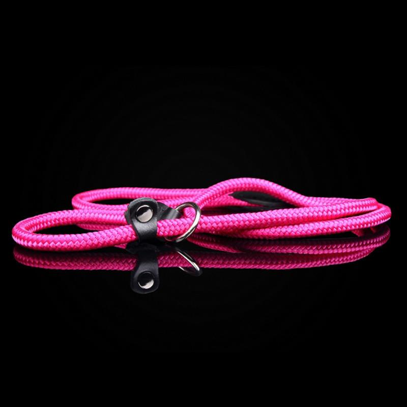 ZOOLESZCZ - ringówka dla psa, choker, sznurek, kolor różowy