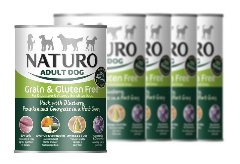 NATURO Kaczka z jagodami - 12 x 390g PAKIET mokra karma dla psa