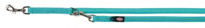 TRIXIE Smycz regulowana Comfort Soft dla psa, morski błękit