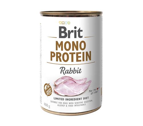BRIT Monoprotein Rabbit mokra karma dla psa 400g
