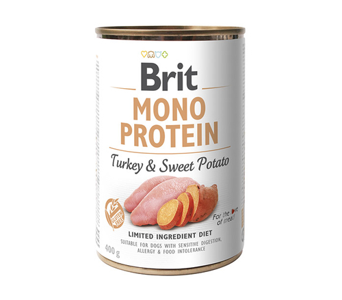 BRIT Monoprotein Turkey & Sweet Potato mokra karma dla psa 400g