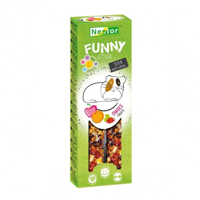 NESTOR Funny kolby dla gryzoni i królików Owocowa 2szt