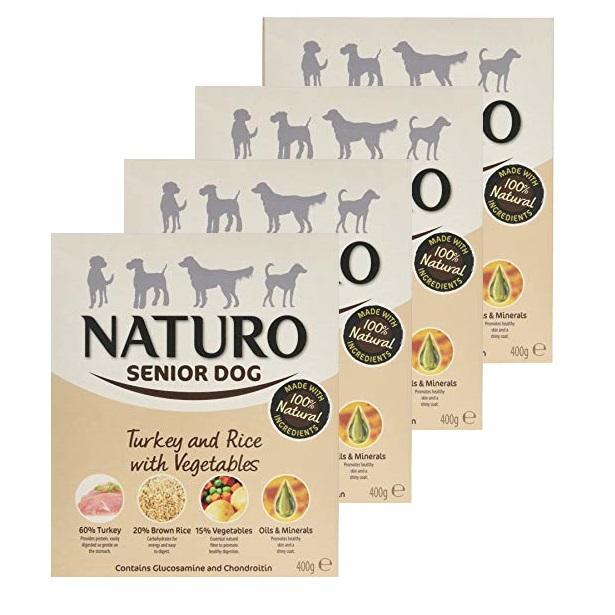 NATURO Senior Turkey & Rice 8 x 400g PAKIET naturalna mokra karma dla starszego psa