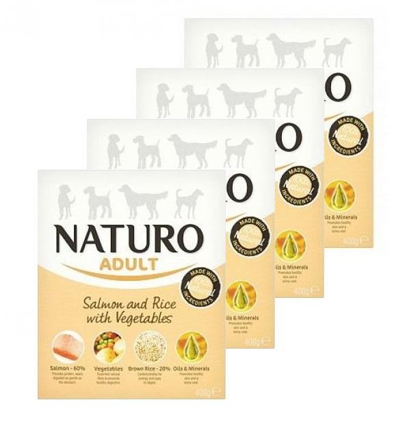 NATURO Salmon & Rice 8 x 400g PAKIET naturalna mokra karma dla dorosłego psa
