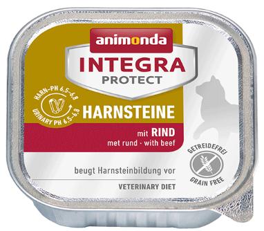 ANIMONDA Integra Protect Harnsteine, Wołowina - karma dla kotów z kamieniami dróg moczowych 100g