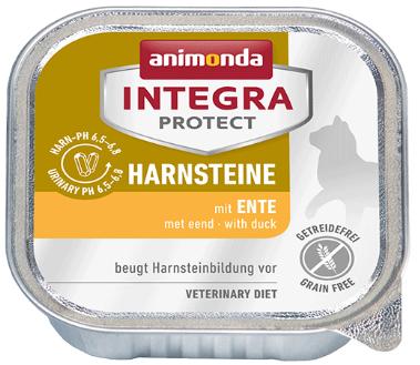 ANIMONDA Integra Protect Harnsteine, Kaczka- karma dla kotów z kamieniami dróg moczowych 100g