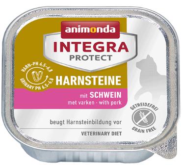 ANIMONDA Integra Protect Harnsteine, Wieprzowina- karma dla kotów z kamieniami dróg moczowych, 100g