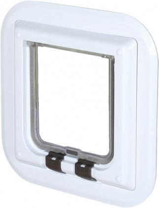 TRIXIE Drzwi wahadłowe dla kota do szklanych powierzchni, białe