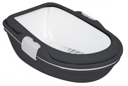 TRIXIE Kuweta Berto XL z systemem przesiewającym, antracytowo-biała