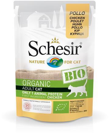 SCHESIR BIO Organic z kurczakiem saszetka dla kota 85g