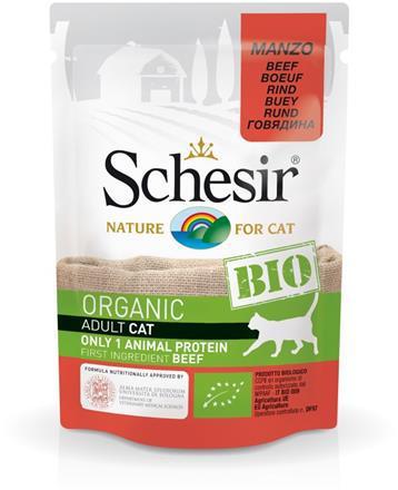 SCHESIR BIO Organic z wołowiną saszetka dla kota 85g
