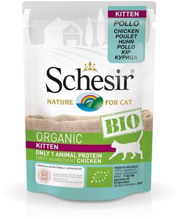 SCHESIR BIO Organic Kitten z kurczakiem saszetka 85g