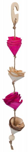 TRIXIE Naturalna zabawka z sizalowym sznurkiem dla papug, 35 cm