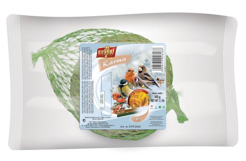VITAPOL Kula tłuszczowe dla ptaków wolnożyjących 500g