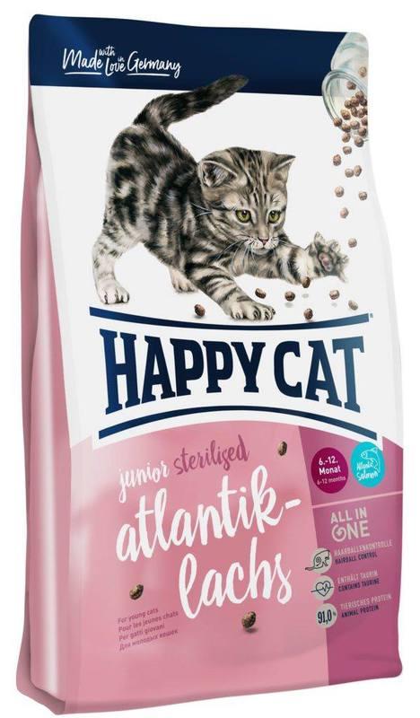 HAPPY CAT Junior Sterilized Łosoś atlantycki - sucha karma dla młodych kotów