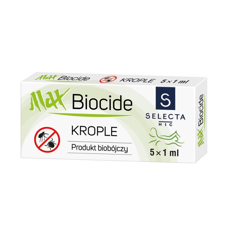 SELECTA MaxBiocide - krople biobójcze dla psów o masie do 20 kg, 5 x 1 ml