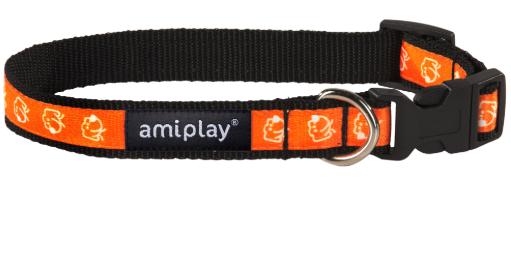AMI PLAY Joy Pomarańczowy piesek - obroża regulowana