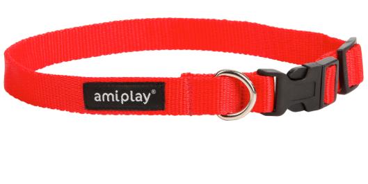 AMI PLAY Obroża regulowana Basic, kolor czerwony