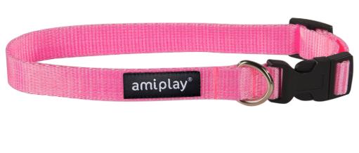 AMI PLAY Obroża regulowana Basic, kolor różowy