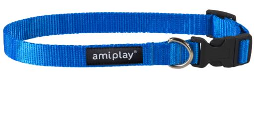 AMI PLAY Obroża regulowana Basic, kolor niebieski