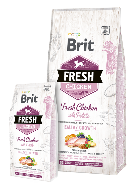 BRIT Fresh Chicken & Potato Puppy Healthy Growth - sucha karma dla szczeniąt