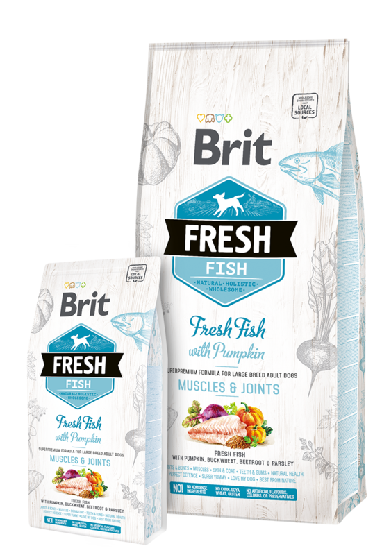 BRIT Fresh Fish & Pumpkin Adult Large Muscles & Joints - sucha karma dla psów