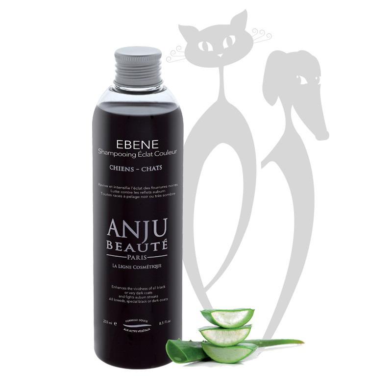 ANJU BEAUTE Ebene - szampon intensyfikujący kolor, do czarnej, ciemnej i hebanowej szaty, dla psów i kotów, 250 ml
