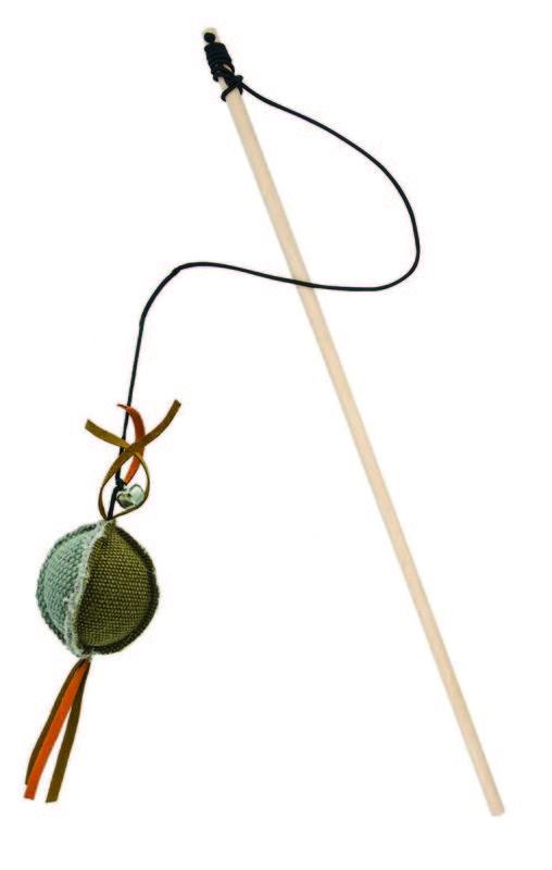 BARRY KING Drewniana wędka z piłką, szaro/brązowa