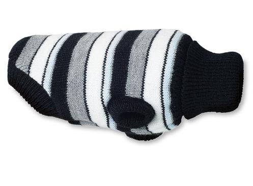 AMI PLAY Sweter Glasgow - ubranko dla psa w szaro czarne paski