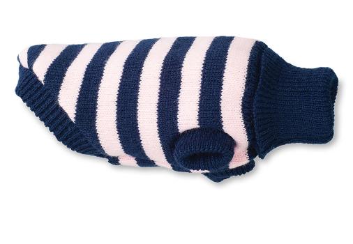 AMI PLAY Sweter Glasgow - ubranko dla psa w różowo czarne paski