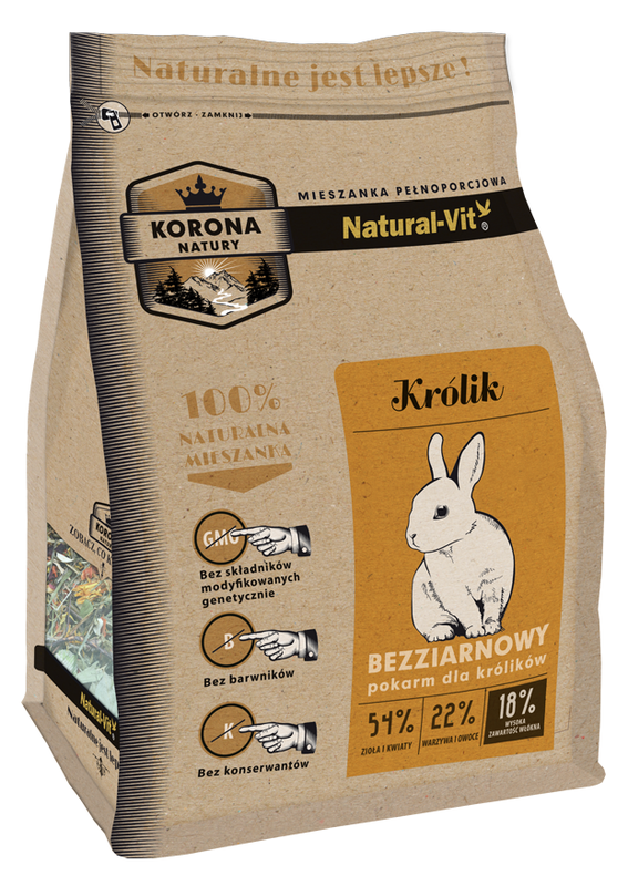 NATURAL-VIT Korona natury - karma dla królika 750 g