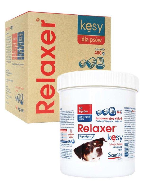 SCANVET Relaxer Kęsy - Lek na sytuacje stresowe, lęk i niepokój u psów