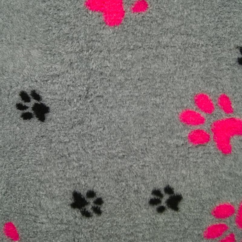 DryBed VetBed A+ - antypoślizgowe posłanie, legowisko dla zwierząt, różowo-szare