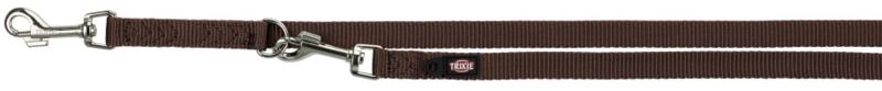 TRIXIE Premium - smycz regulowana dla psa, kolor mokka