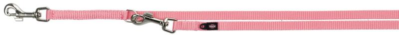 TRIXIE Premium - smycz regulowana dla psa z podwójnej taśmy, flamingo