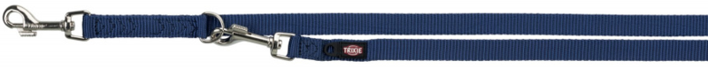 TRIXIE Premium - smycz regulowana dla psa z podwójnej taśmy, indygo