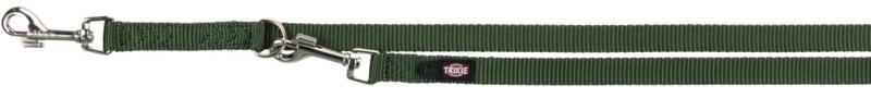 TRIXIE Premium - smycz regulowana dla psa z podwójnej taśmy, kolor leśny