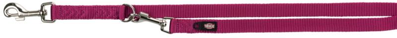 TRIXIE Premium - smycz regulowana dla psa z podwójnej taśmy, fioletowa orchidea