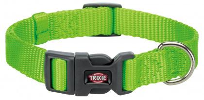 TRIXIE Premium - Obroża regulowana z taśmy, kolor jabłkowy