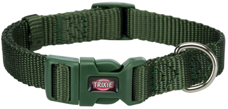 TRIXIE Premium - Obroża regulowana z taśmy, kolor leśny