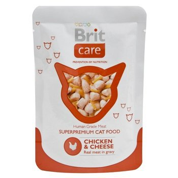 BRIT Care Super Premium Cat Food, Kurczak + ser - saszetka dla kota 80g