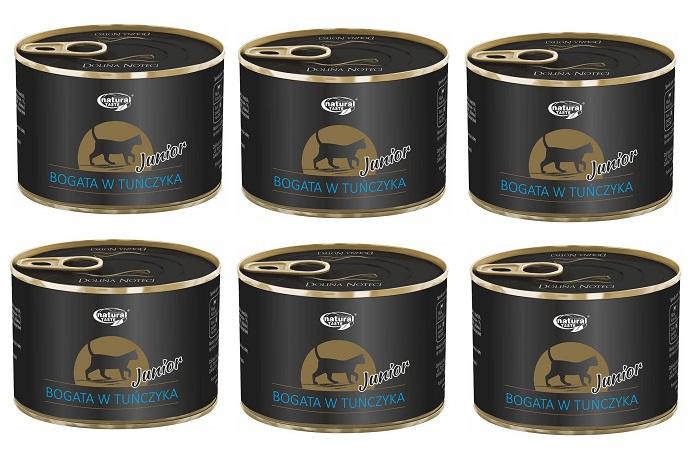 Dolina Noteci CAT Junior pasztet z tuńczyka 6x185g PAKIET! - mokra karma dla młodych kotów