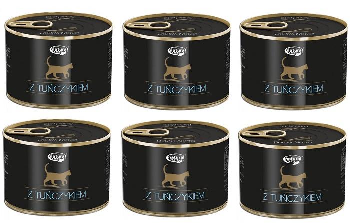 Dolina Noteci CAT pasztet z tuńczykiem 6x185g PAKIET! - mokra karma dla kota