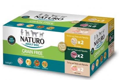 NATURO Variety 6x 400G - Mix smaków, 2x kaczka, 2x indyk, 2x kurczak