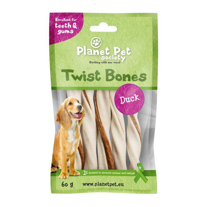 PLANET PET Duck Twist Bones 11,5cm, 5 szt, 60g - Przysmak dla psa z kaczką