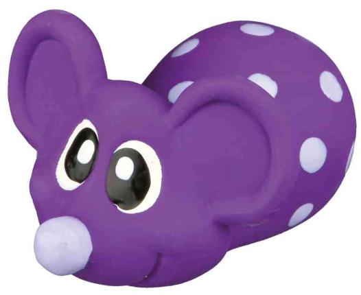 TRIXIE Myszka z lateksu - piszcząca zabawka dla psa, 8cm