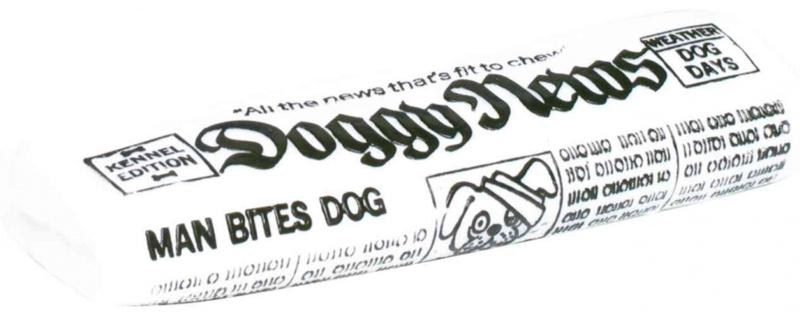 TRIXIE Gazeta Doggy News - Winylowa zabawka dla psa z piszczałką
